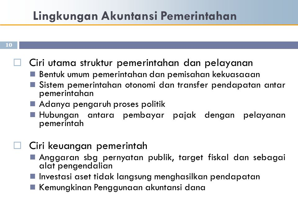 Lingkungan Akuntansi Pemerintahan