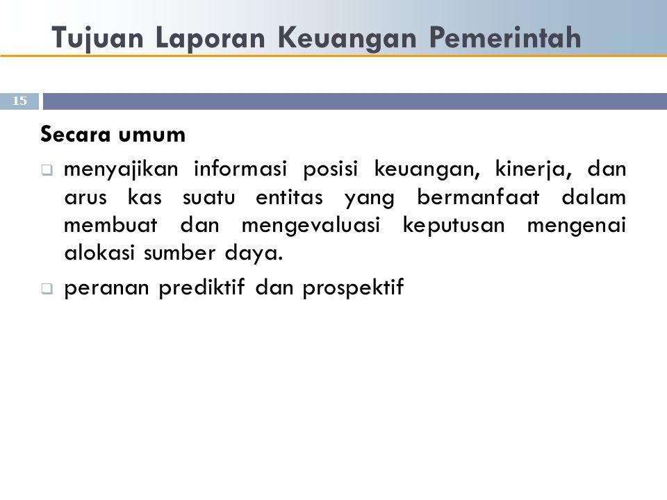 Tujuan Laporan Keuangan Pemerintah