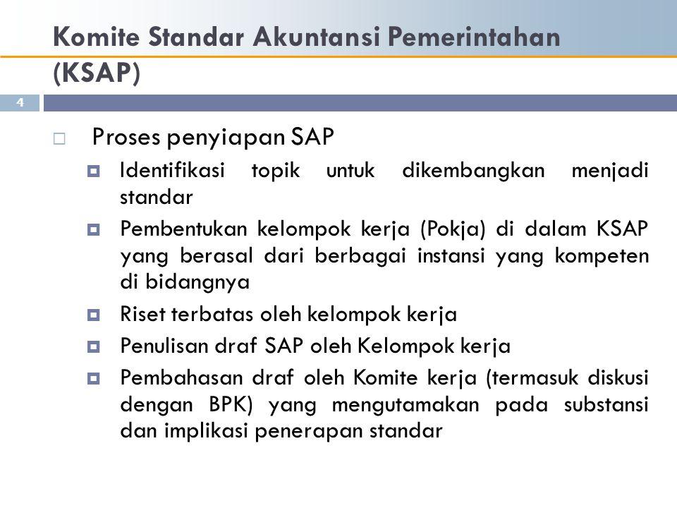 Komite Standar Akuntansi Pemerintahan (KSAP)