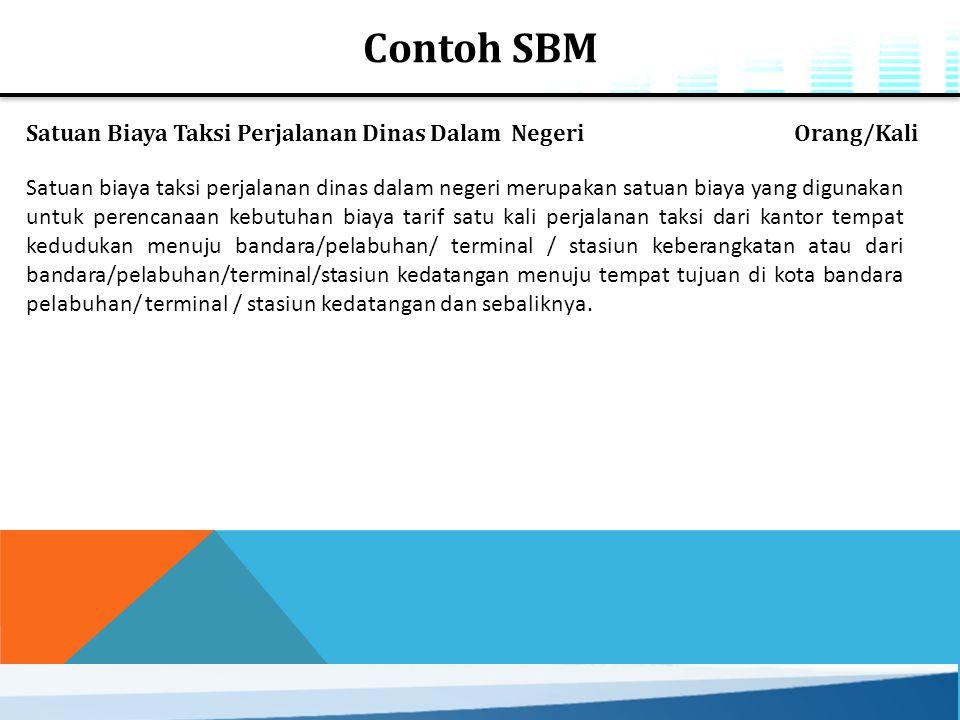 Contoh SBM Satuan Biaya Taksi Perjalanan Dinas Dalam Negeri Orang/Kali