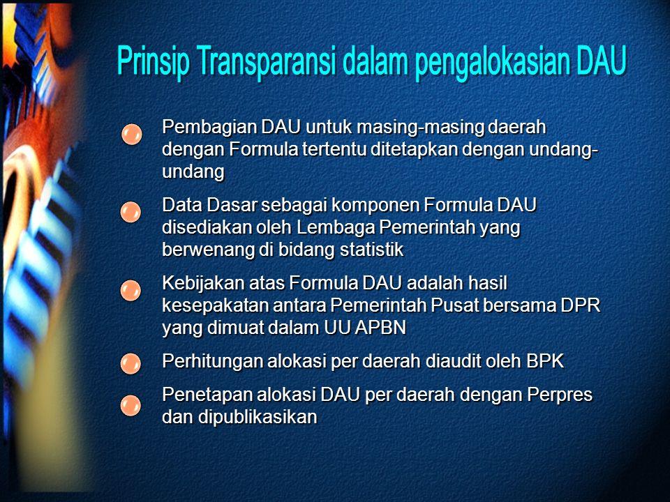 Prinsip Transparansi dalam pengalokasian DAU