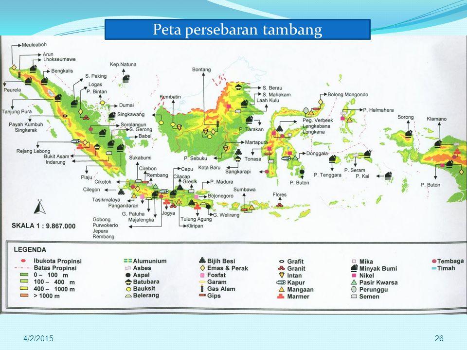 Peta persebaran tambang