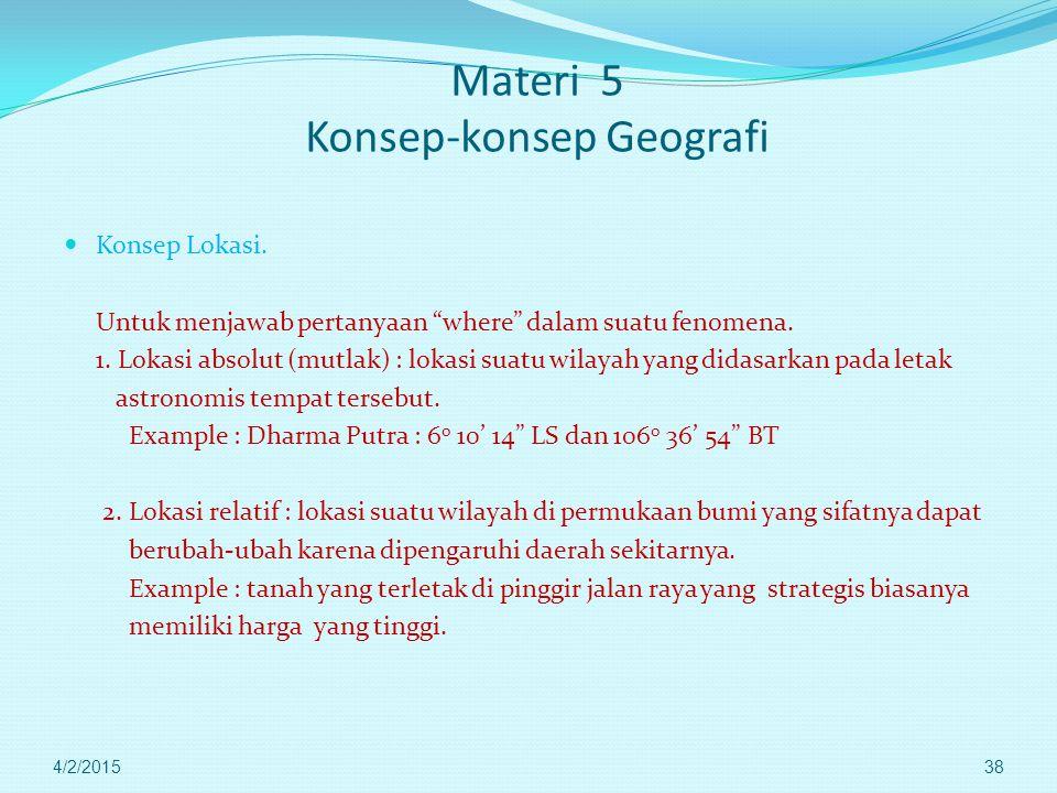 Materi 5 Konsep-konsep Geografi