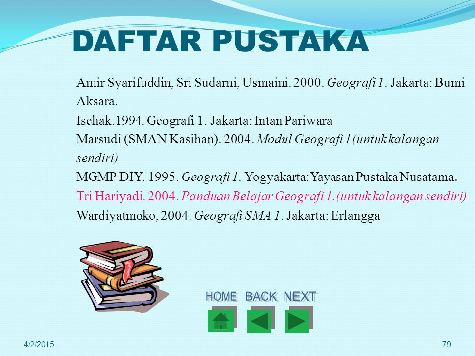 DAFTAR PUSTAKA HOME BACK NEXT
