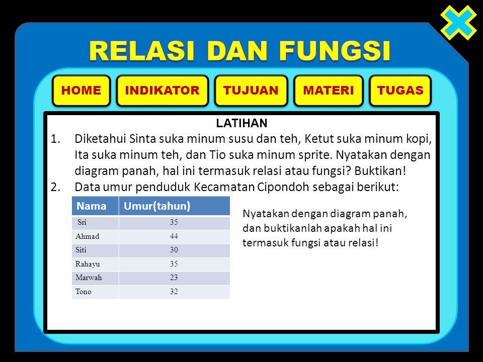 2. Data umur penduduk Kecamatan Cipondoh sebagai berikut: