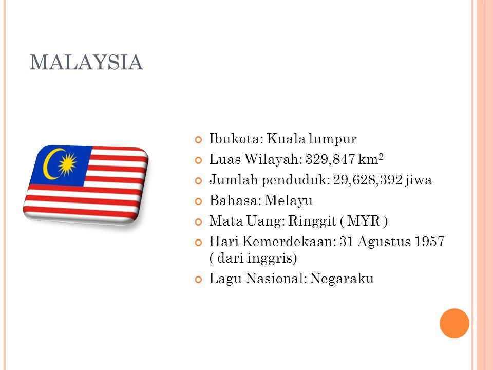 MALAYSIA Ibukota: Kuala lumpur Luas Wilayah: 329,847 km2