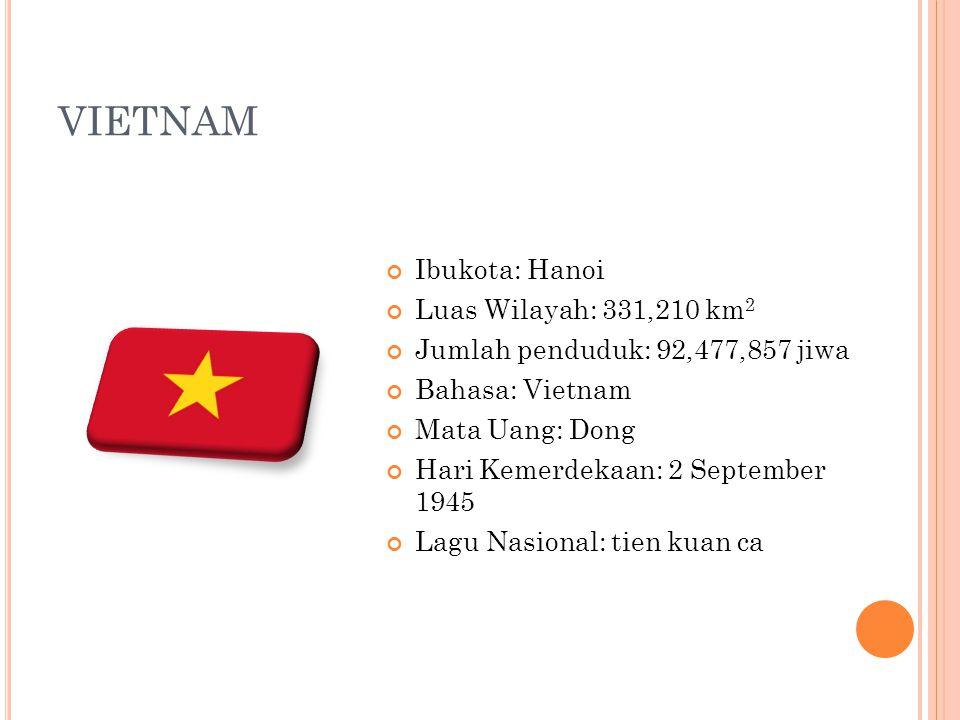 VIETNAM Ibukota: Hanoi Luas Wilayah: 331,210 km2