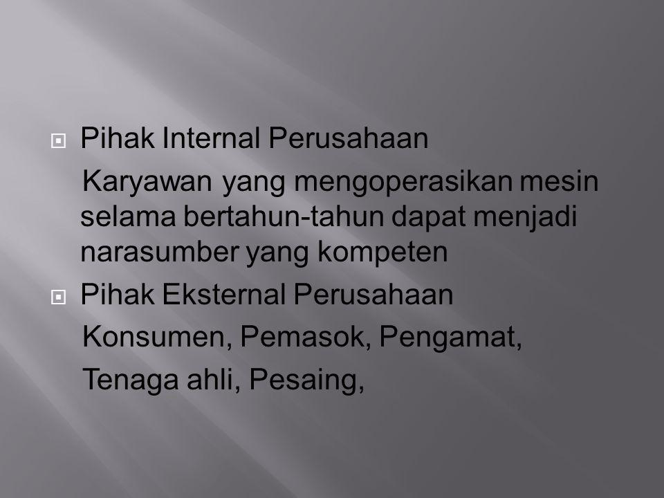 Pihak Internal Perusahaan