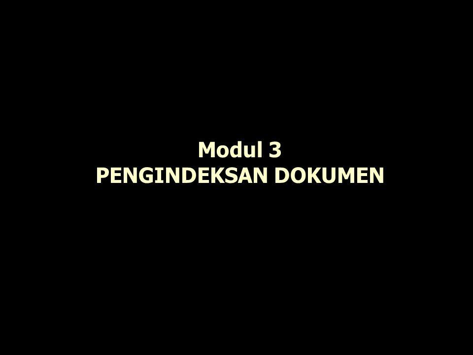 Modul 3 PENGINDEKSAN DOKUMEN