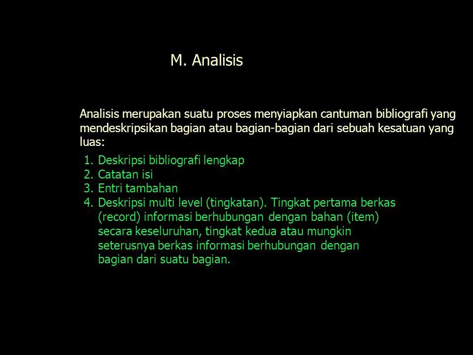 M. Analisis Analisis.