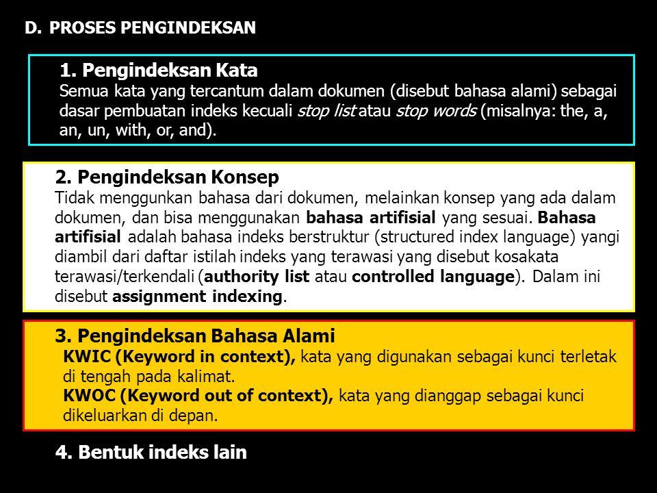 3. Pengindeksan Bahasa Alami
