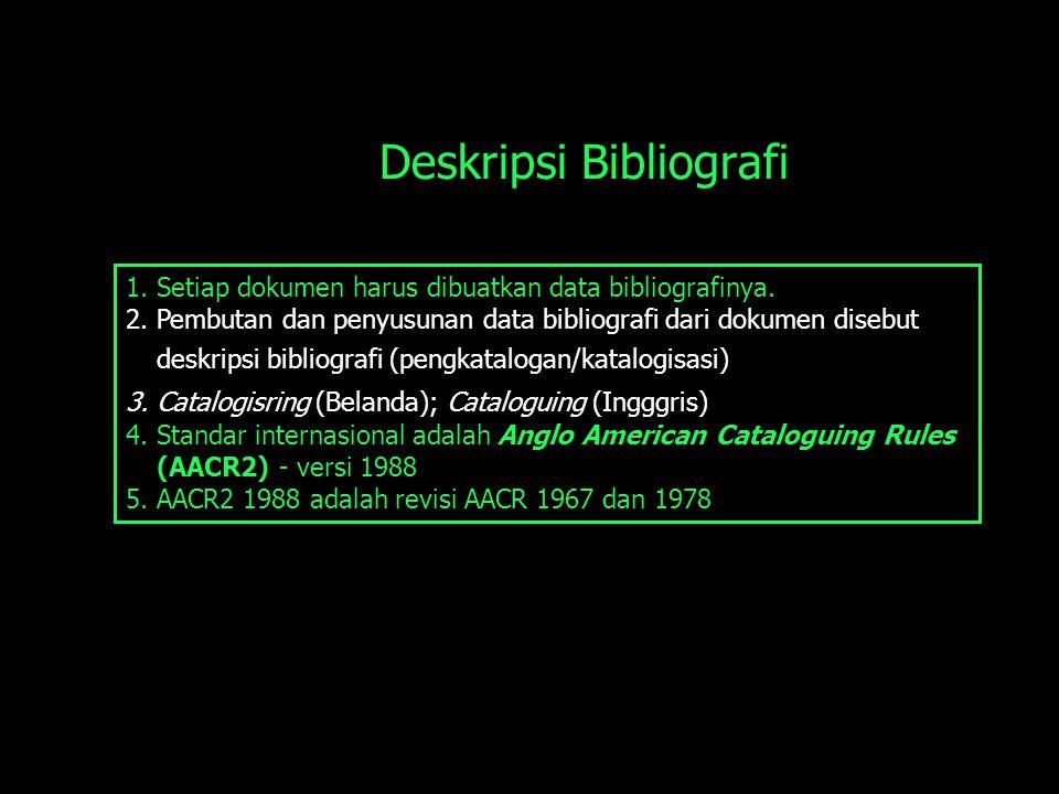 Deskripsi Bibliografi