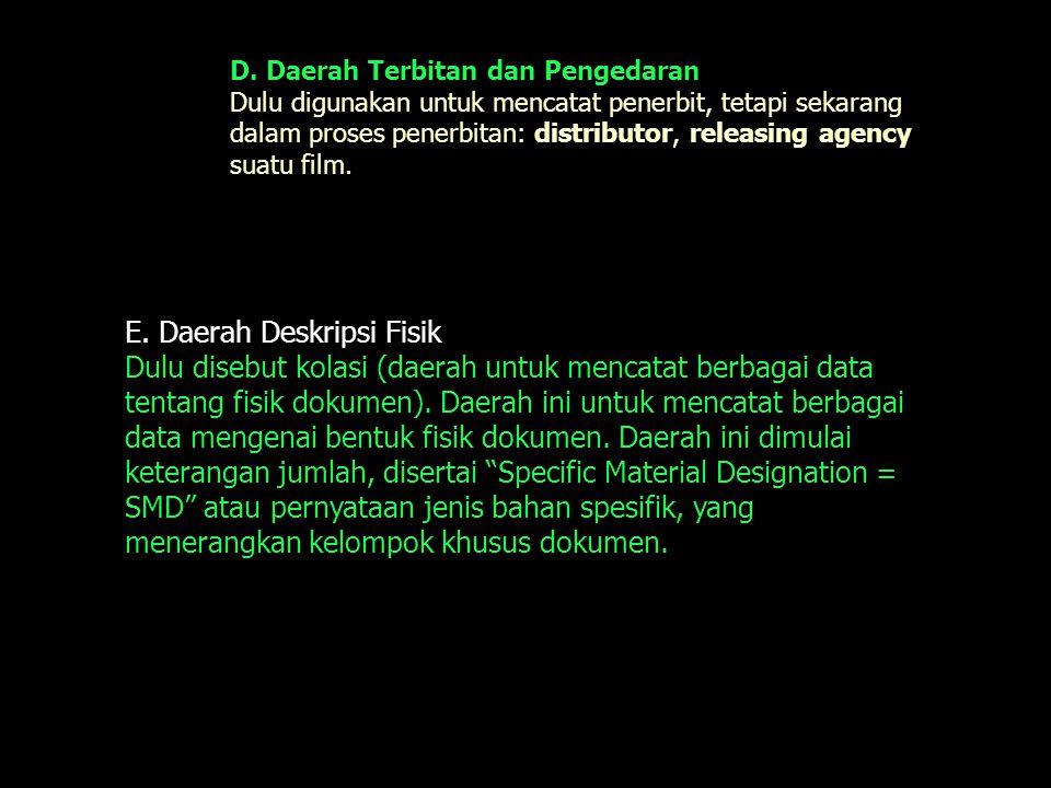 E. Daerah Deskripsi Fisik