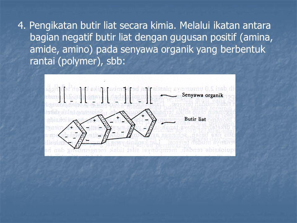 4. Pengikatan butir liat secara kimia