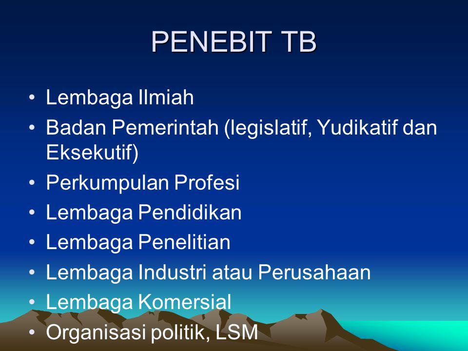 PENEBIT TB Lembaga Ilmiah
