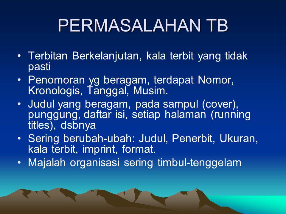PERMASALAHAN TB Terbitan Berkelanjutan, kala terbit yang tidak pasti
