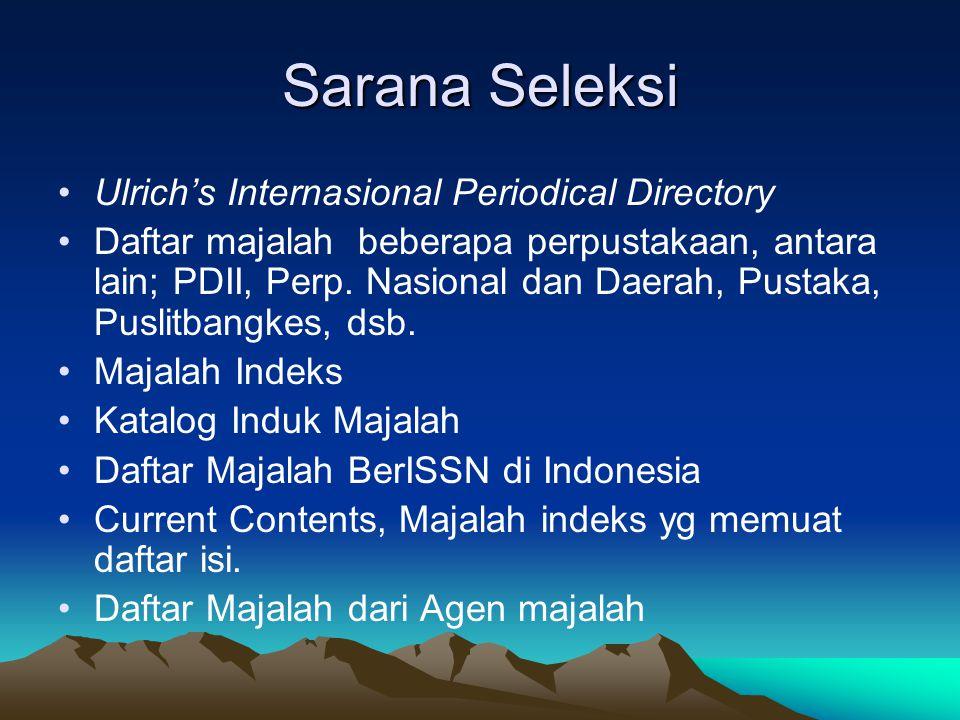 Sarana Seleksi Ulrich's Internasional Periodical Directory