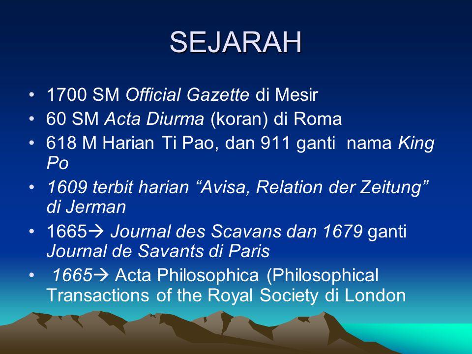 SEJARAH 1700 SM Official Gazette di Mesir