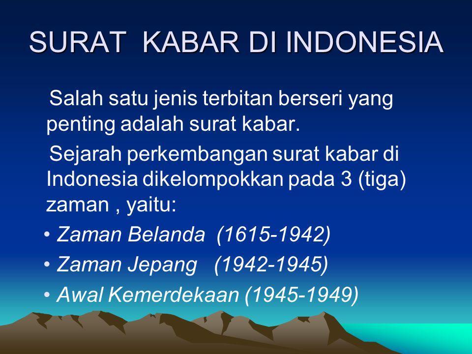 SURAT KABAR DI INDONESIA