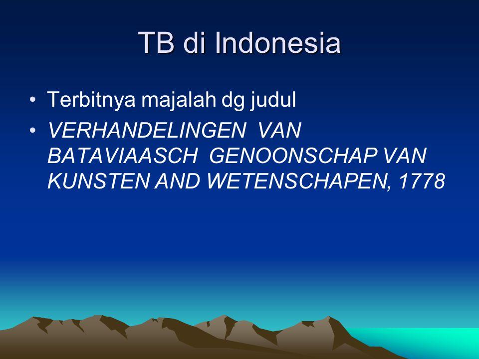 TB di Indonesia Terbitnya majalah dg judul