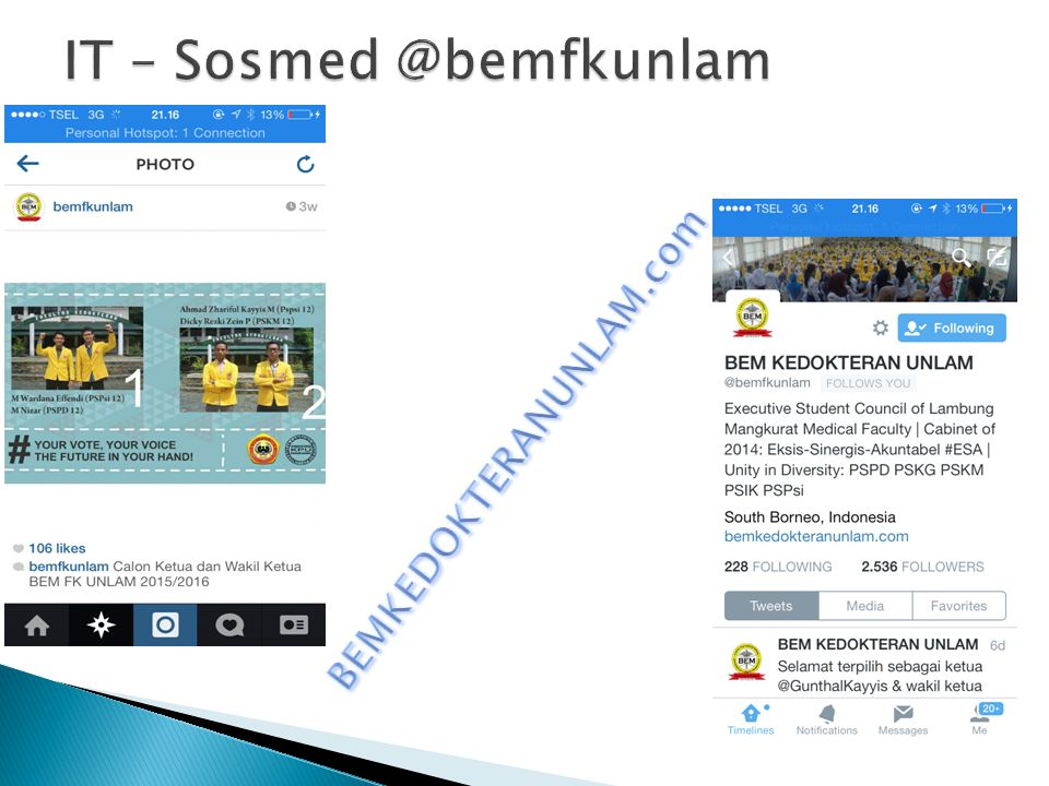 IT – Sosmed @bemfkunlam