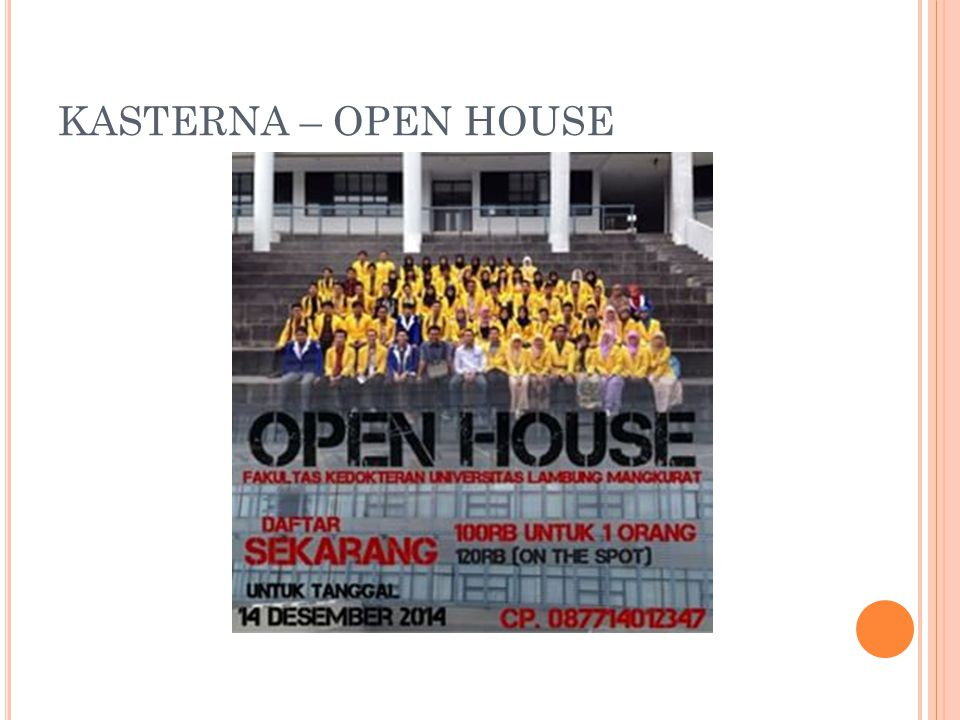 KASTERNA – OPEN HOUSE