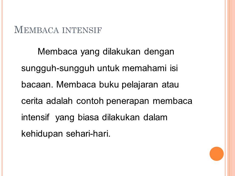 Membaca intensif
