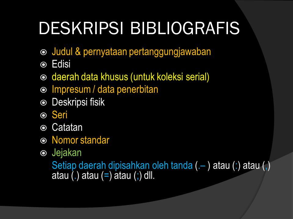 DESKRIPSI BIBLIOGRAFIS
