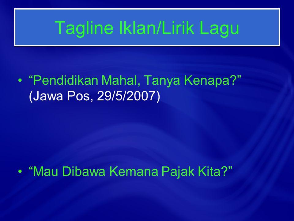 Tagline Iklan/Lirik Lagu