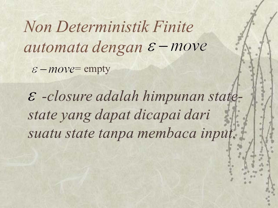 Non Deterministik Finite automata dengan