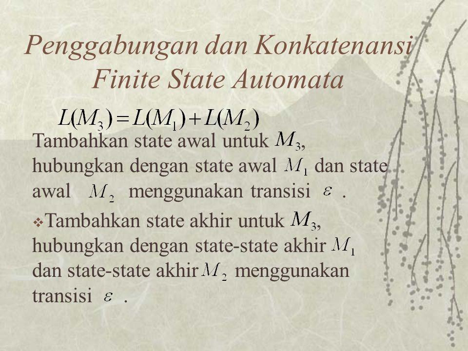 Penggabungan dan Konkatenansi Finite State Automata