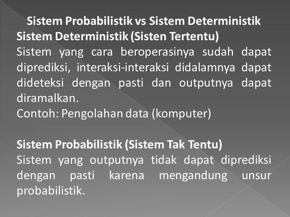 Sistem Probabilistik vs Sistem Deterministik