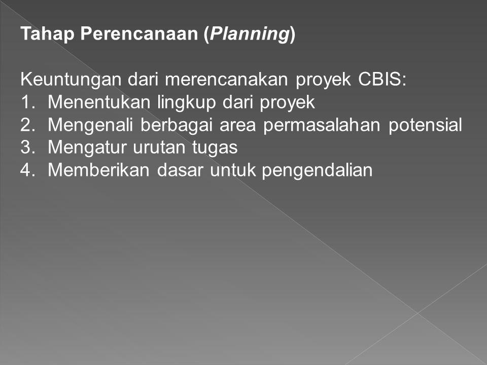 Tahap Perencanaan (Planning)
