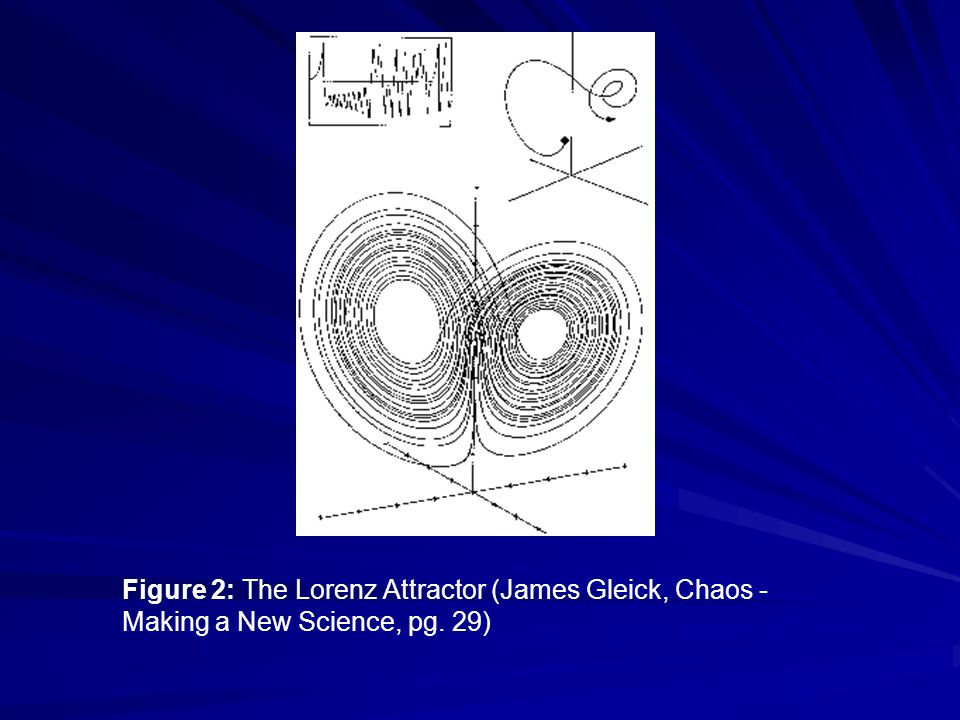 Figure 2: The Lorenz Attractor (James Gleick, Chaos - Making a New Science, pg. 29)