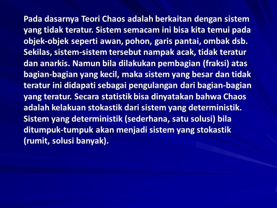 Pada dasarnya Teori Chaos adalah berkaitan dengan sistem yang tidak teratur.