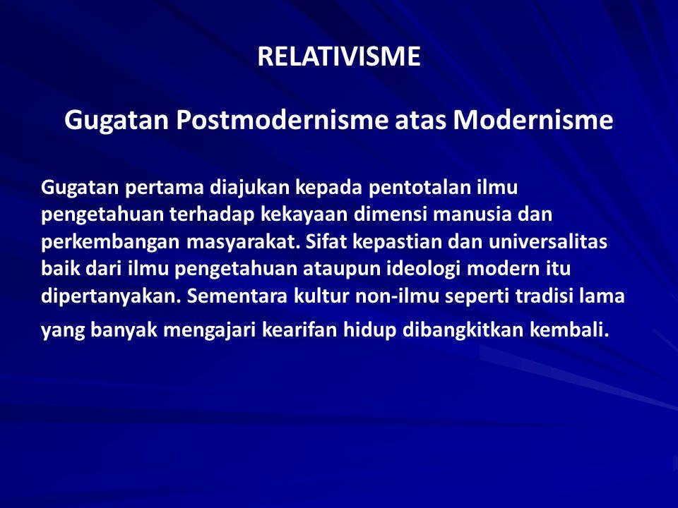 Gugatan Postmodernisme atas Modernisme