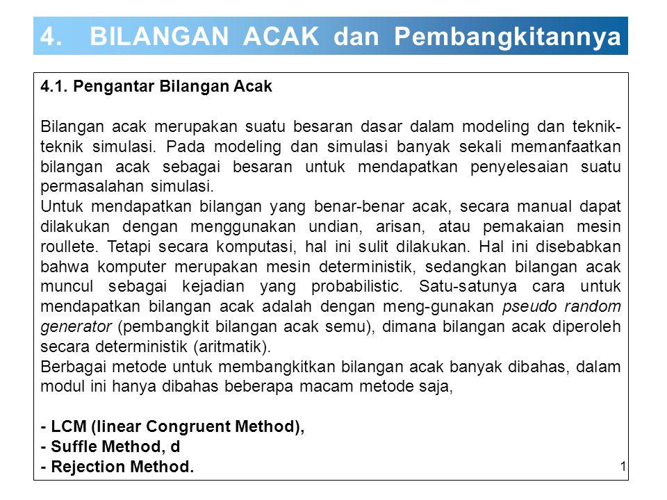 4. BILANGAN ACAK dan Pembangkitannya