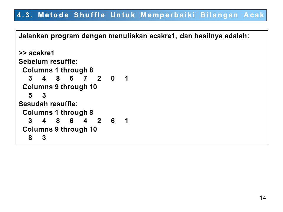 4.3. Metode Shuffle Untuk Memperbaiki Bilangan Acak
