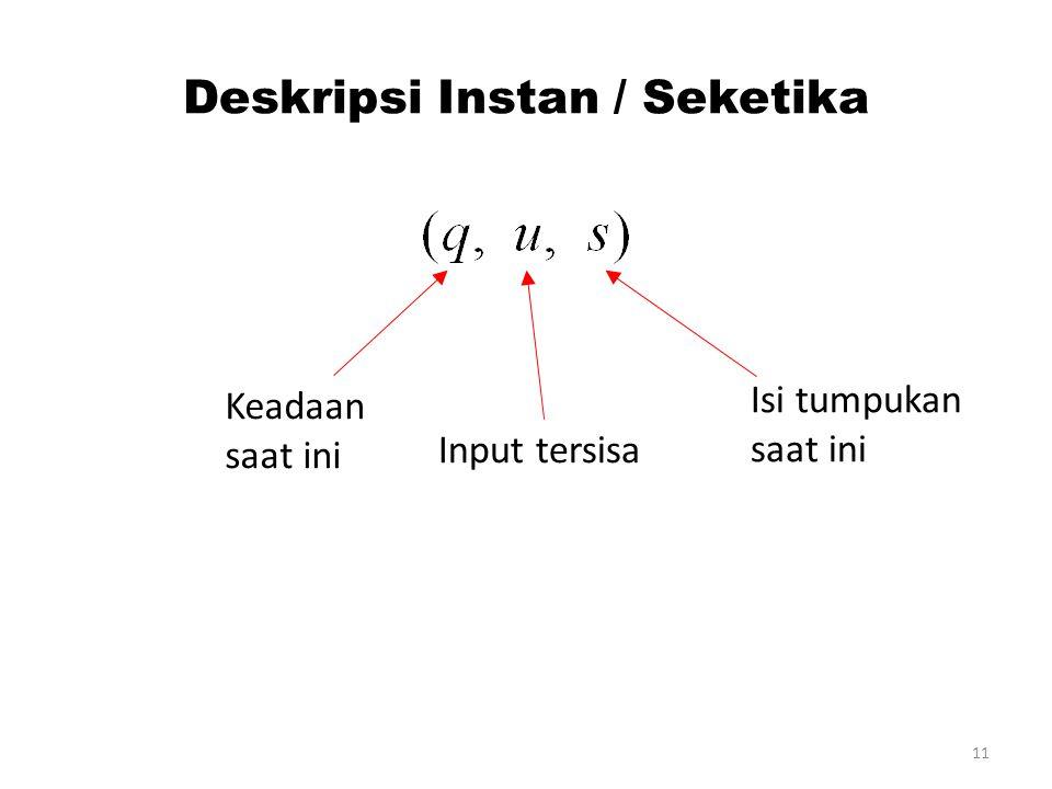 Deskripsi Instan / Seketika