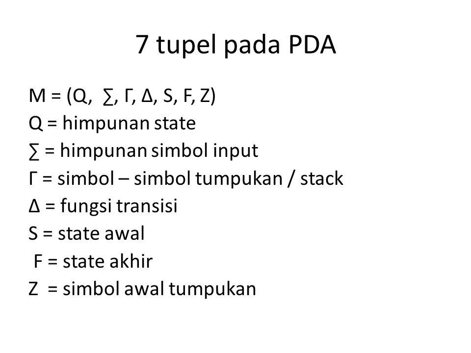 7 tupel pada PDA