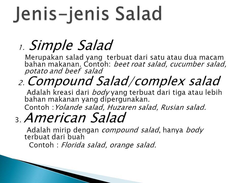 Jenis-jenis Salad