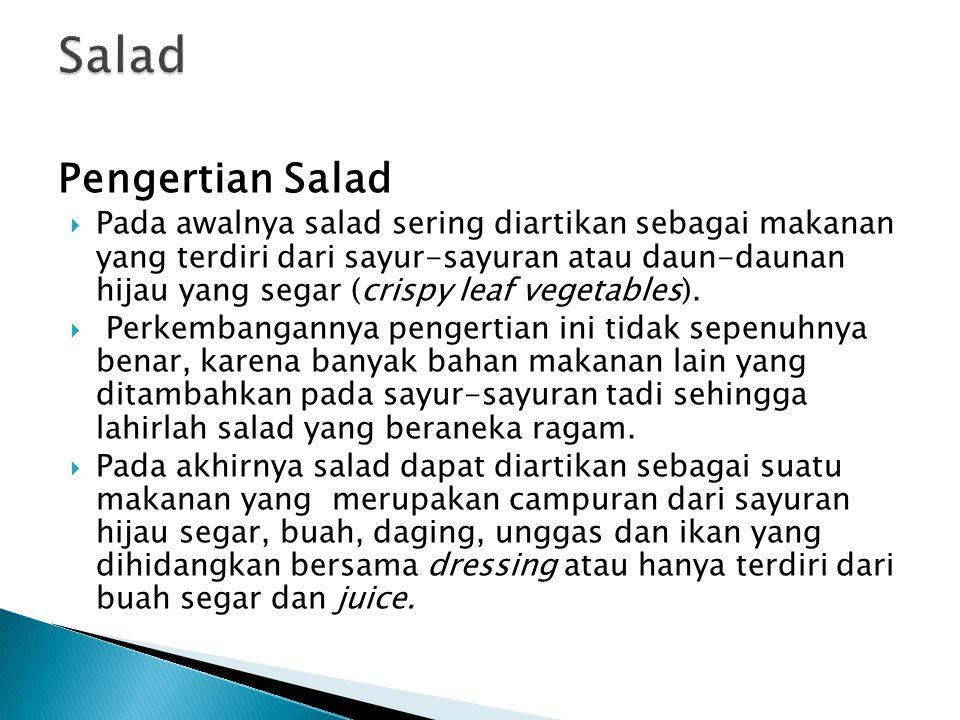 Salad Pengertian Salad
