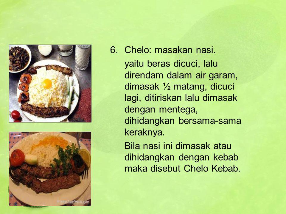 Chelo: masakan nasi.