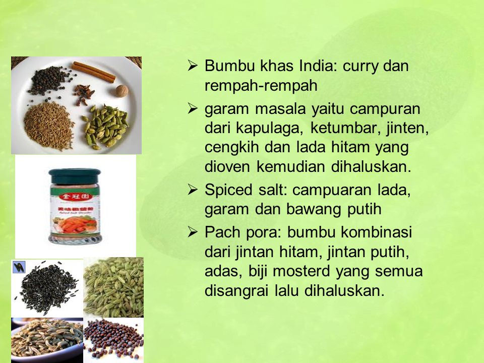 Bumbu khas India: curry dan rempah-rempah