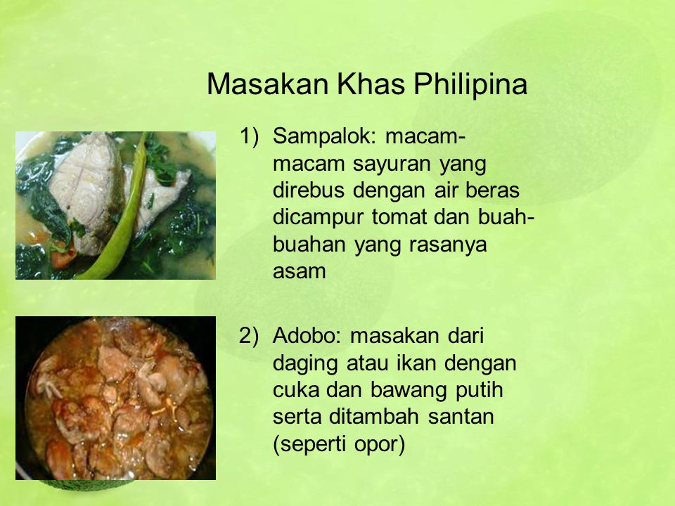 Masakan Khas Philipina
