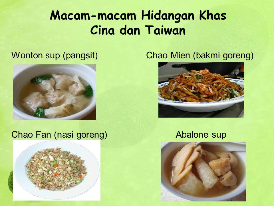 Macam-macam Hidangan Khas Cina dan Taiwan