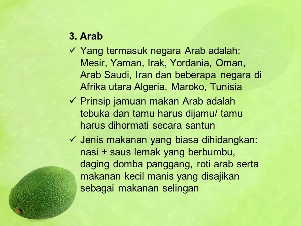 3. Arab