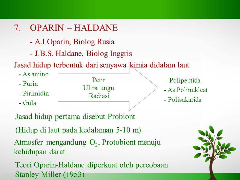 - A.I Oparin, Biolog Rusia