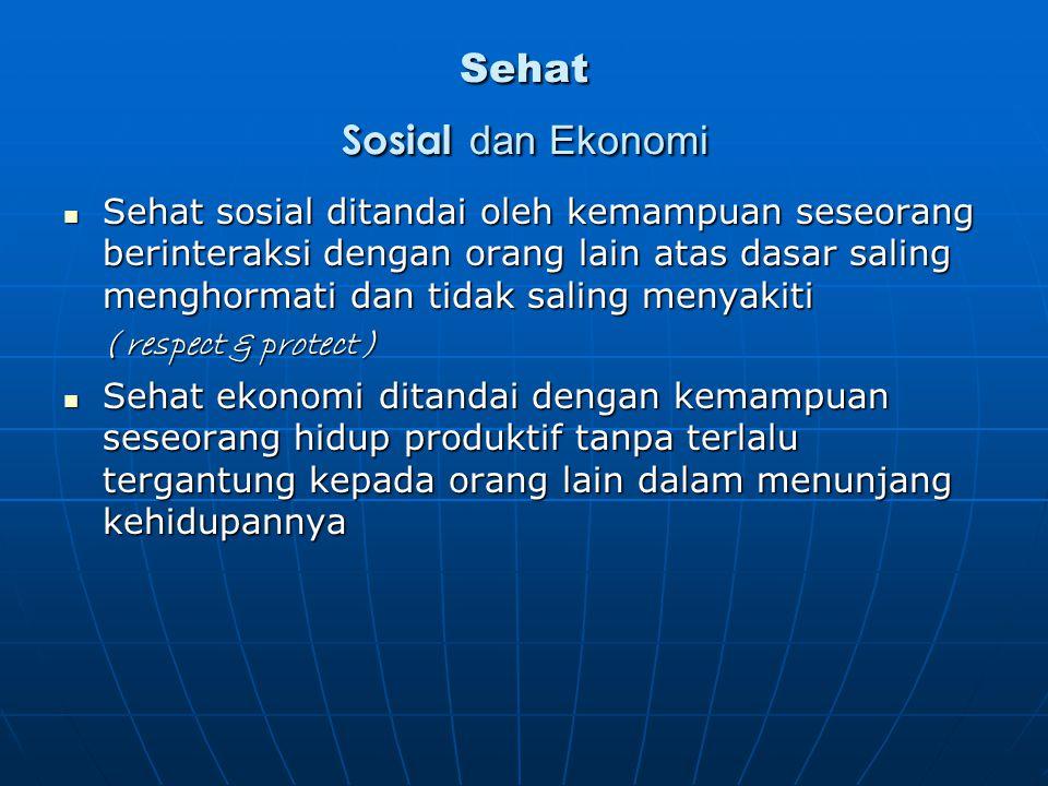 Sehat Sosial dan Ekonomi