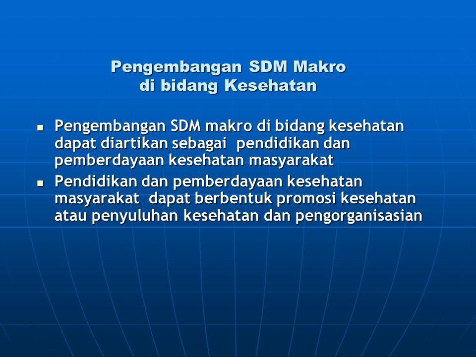 Pengembangan SDM Makro di bidang Kesehatan